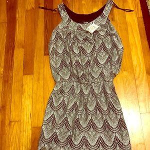 Shiny silver and black dress